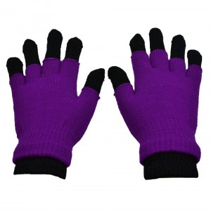 POIZEN INDUSTRIES - DOUBLE GLOVES LADIES PURPLE