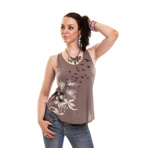 INNOCENT LIFESTYLE - FLOCK TOP LADIES BROWN