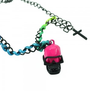 CUPCAKE CULT - SKULLY P1 NECKLACE LADIES BLACK *NEW*