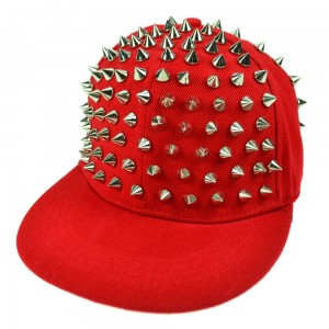 CUPCAKE CULT - X SPIKE CAP LADIES RED/SILVER