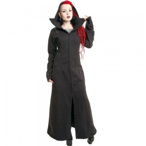 POIZEN INDUSTRIES - RAVEN COAT LADIES BLACK