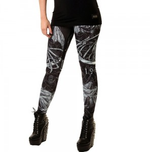 ALCHEMY - DEATH GOD LEGGINGS LADIES BLACK