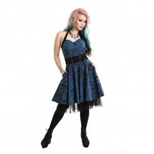 VIXXSIN - DARK CROW DRESS LADIES BLUE