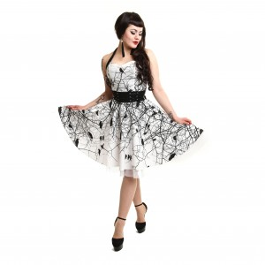 VIXXSIN - DARK CROW DRESS LADIES WHITE