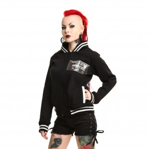 HEARTLESS - METH VARSITY JACKET LADIES BLACK