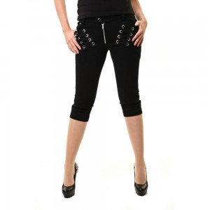 VIXXSIN - DEMI CAPRI TROUSERS LADIES BLACK