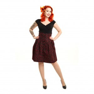 ROCKABELLA - BUFFY SKIRT LADIES CHERRY BLACK/RED