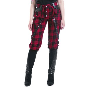 VIXXSIN - GRAIN PANTS LADIES RED CHECK