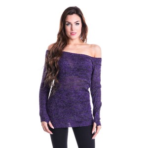 INNOCENT LIFESTYLE - HENA TOP LADIES PURPLE