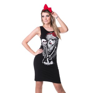VIXXSIN - CROW GIRL SLASHER DRESS LADIES BLACK
