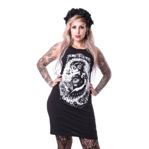 VIXXSIN - FUNERAL SLASHER DRESS LADIES BLACK