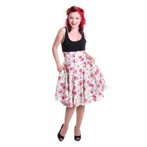 ROCKABELLA - FLORENCE SKIRT LADIES ROSE GARDEN