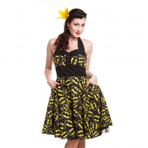 BATMAN - BATMAN LOGO DRESS LADIES BLACK