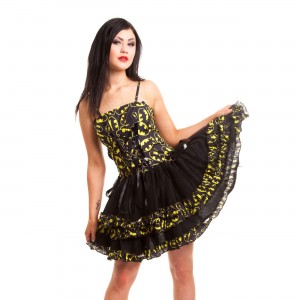 BATMAN - BAT NIGHT DRESS LADIES BLACK