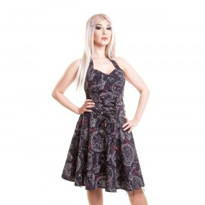 HEARTLESS - DARK GALAXY DRESS LADIES BLACK
