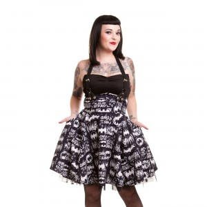 BATMAN - GRAFFITI DRESS LADIES BLACK