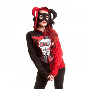 CUPCAKE CULT - JESTER HOOD LADIES BLACK/RED