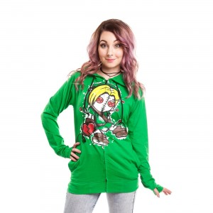 CUPCAKE CULT - QUEST HOOD LADIES GREEN