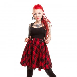 HEARTLESS - LUCILLE SKIRT LADIES RED CHECK