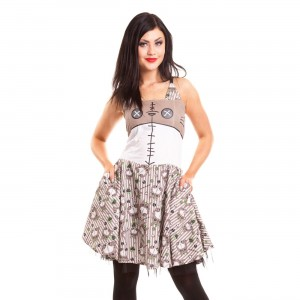 CUPCAKE CULT - VOODOO MORO DRESS LADIES GREY