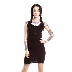 HEARTLESS - WEDNESDAY DRESS LADIES BLACK