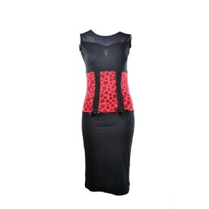 ROCKABELLA - SHERRY DRESS LADIES RED HEART LEO