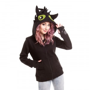 CUPCAKE CULT - BLACK FURY HOOD LADIES BLACK