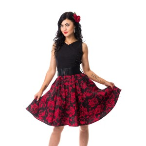 ROCKABELLA - BLOSSOM DRESS LADIES RED