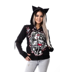 VIXXSIN - CAT MUERTE HOOD LADIES BLACK
