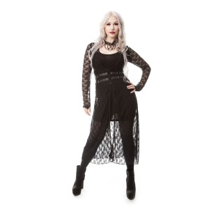 VIXXSIN - BELOVED LACE CARDIGAN LADIES BLACK