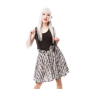 CUPCAKE CULT - DARK CANDY SKIRT LADIES BLACK/WHITE