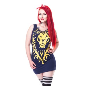 WARCRAFT - ALLIANCE LION TOP LADIES BLUE