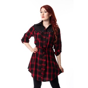 HEARTLESS - EMILY DRESS LADIES RED CHECK