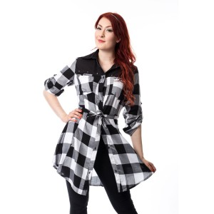 HEARTLESS - EMILY DRESS LADIES WHITE CHECK