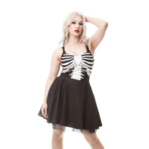 VIXXSIN - GHOST TOWN DRESS LADIES BLACK
