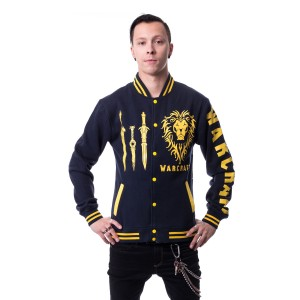 WARCRAFT - ALLIANCE RISEUP VARSITY JACKET MENS BLUE