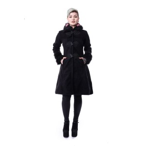 POIZEN INDUSTRIES - FROZEN COAT LADIES BLACK