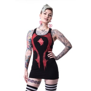 WARCRAFT - HORDE TOP LADIES BLACK