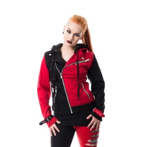 HEARTLESS - JESTER JACKET LADIES BLACK/RED