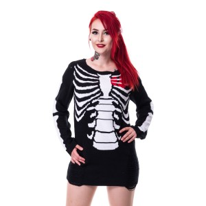 HEARTLESS - INTERNAL TOP LADIES BLACK/WHITE