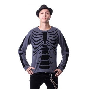HEARTLESS - INTERNAL TOP MENS GREY/BLACK