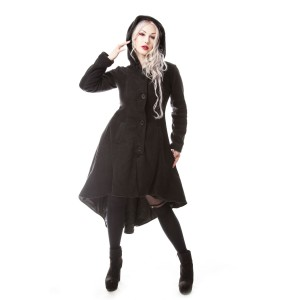 POIZEN INDUSTRIES - MEMORIAL COAT LADIES BLACK