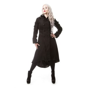 POIZEN INDUSTRIES - MIDNIGHT COAT LADIES BLACK