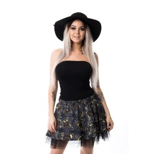 CUPCAKE CULT - MOON FOX SKIRT LADIES BLACK