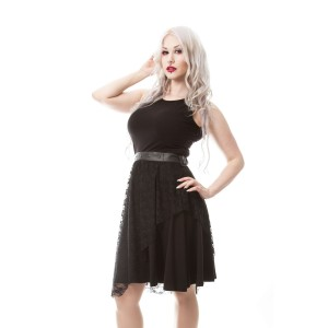POIZEN INDUSTRIES - SILENT NIGHT DRESS LADIES BLACK