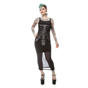 VIXXSIN - TORN DRESS LADIES BLACK