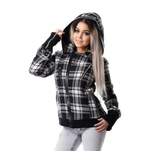 POIZEN INDUSTRIES - Z JACKET LADIES WHITE CHECK