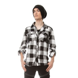 VIXXSIN - LEFT FIELD SHIRT MENS WHITE CHECK