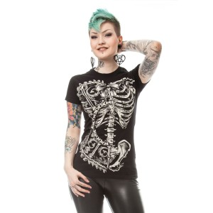 VIXXSIN - BONE CORSET T LADIES BLACK