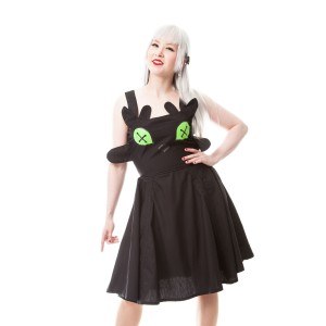 CUPCAKE CULT - DRAGON COSPLAY DRESS LADIES BLACK